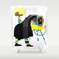 photographer Shower Curtains featuring Photographer by Design4u Studio