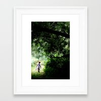 neverland Framed Art Prints featuring Neverland by NishaJayne