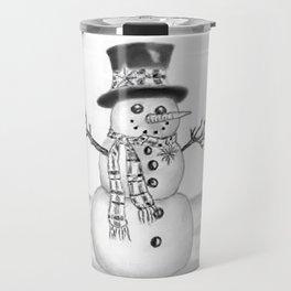 the snowman Travel Mug