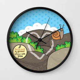Lovebugs -I have such a great slime with you Wall Clock