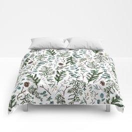 Pine and Eucalyptus Greenery Comforters
