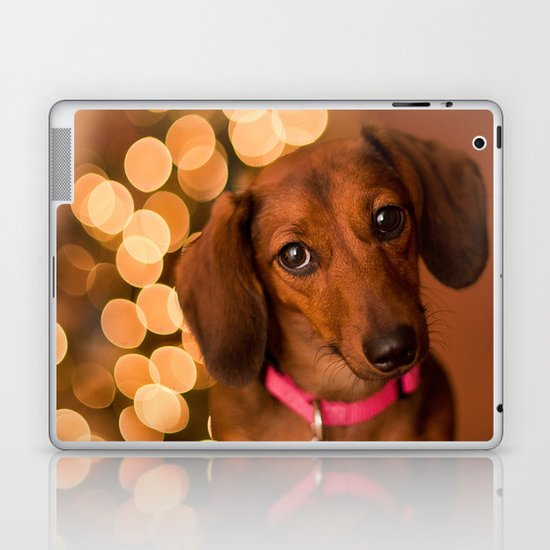 Dachshund Christmas Laptop & iPad Skin