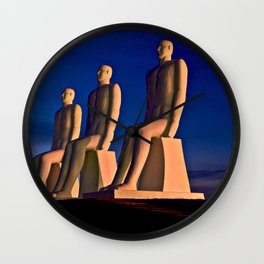 MAN AT SEA in Esbjerg on the West Coast of Denmark Wall Clock