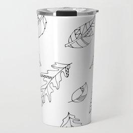 Leaf Drawings Travel Mug