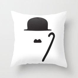 Minimal Chaplin Throw Pillow