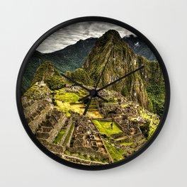 Machu Picchu Hi-Res HDR landscape Peru Wall Clock