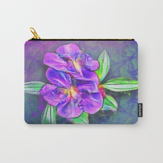 Abstract Lasiandra on textured kaleidoscope Carry-All Pouch