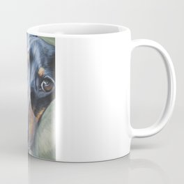 Dachshund Fine Art Dog Painting from an original painting by L.A.Shepard Coffee Mug