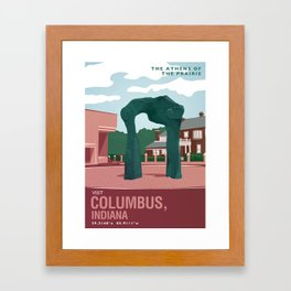 Columbus, Indiana Framed Art Print