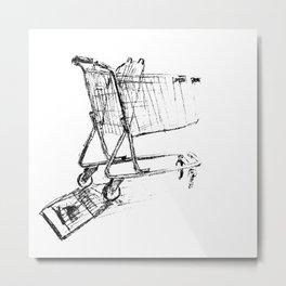Shopping Cart Metal Print