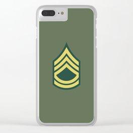 Sergeant First Class (OD Green) Clear iPhone Case