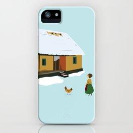 Winter nostalgia iPhone Case