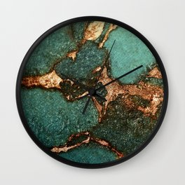 EMERALD AND GOLD Wall Clock