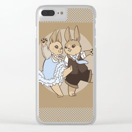 Rabbit Dance Clear iPhone Case