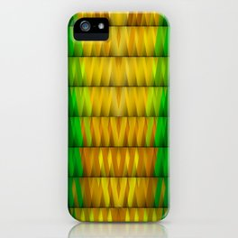 Multicolored Rectangle Pattern iPhone Case