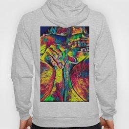 4281s-RES Abstract Pop Color Erotica Pleasuring Psychedelic Yoni Self Love Hoody