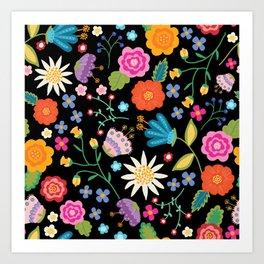 Boho Brights Art Print