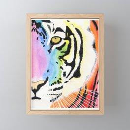 Rainbow Tiger Framed Mini Art Print