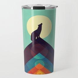 Howling Wild Wolf Travel Mug