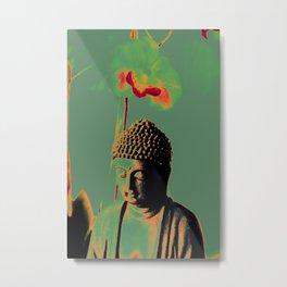 Buddah under orchid glory Metal Print