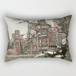 two piece shoot out in neo tokyo... by rmd Rectangular Pillow