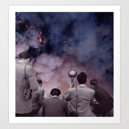 exposed film on fire Art Print