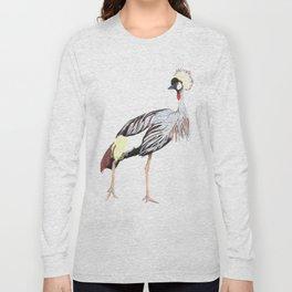 crowned crane Long Sleeve T-shirt