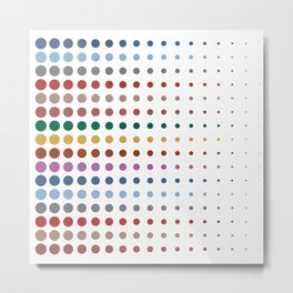 Dots XL2S in a Line Autumn Color - Living Hell Metal Print