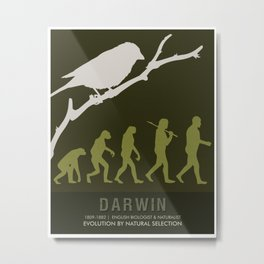 Science Posters - Charles Darwin - Biologist, Naturalist Metal Print