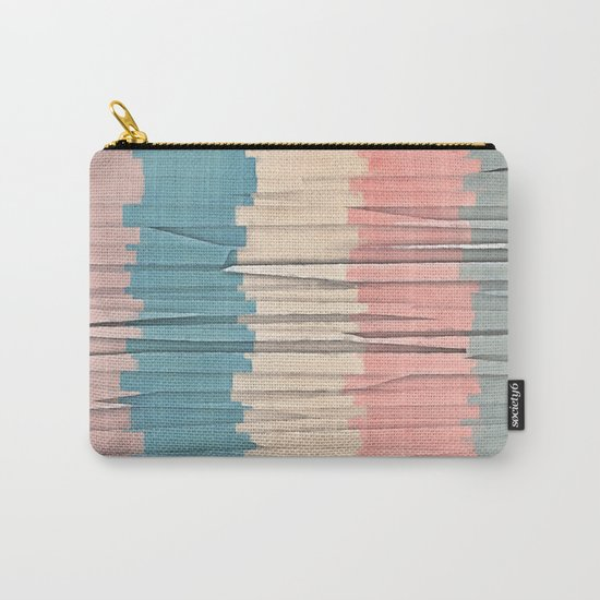 Colorful Grunge Stripes Carry-All Pouch