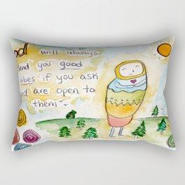 God's Good Vibes Rectangular Pillow