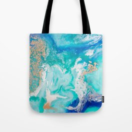 Into the Blue Lagoon Tote Bag
