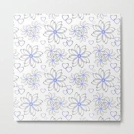 Cute floral pattern. Metal Print