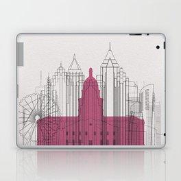 Atlanta Landmarks Poster Laptop & iPad Skin