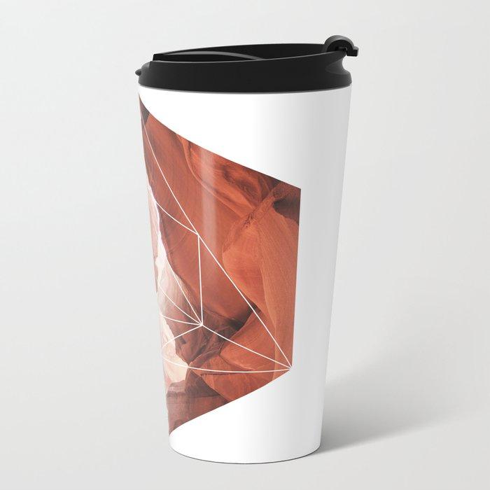 A Great Canyon - Geometric Photography Metal Travel Mug
