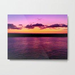 Blazing Sunset Over Newport Harbor Metal Print