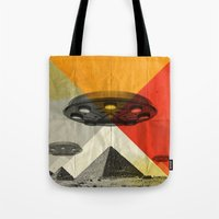 return Tote Bags featuring the return by Vin Zzep