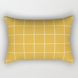 Yellow #9 Grid Stripe Lines Minimalist Geometric Line Stripes Rectangular Pillow