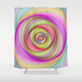 Magnetic storm Shower Curtain