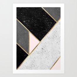 Textured Geometry 1 Art Print