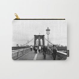 Walking the Brooklyn Bridge from Manhattan, New York Carry-All Pouch