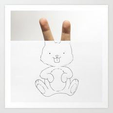 Fingerabbit Art Print