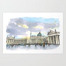 Piazza San Pietro Art Print