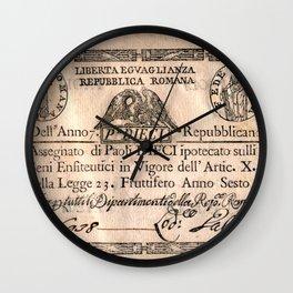 Assegnato da 10 paoli, emesso nell'anno 7. repubblicano (1798) Wall Clock