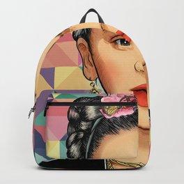 Frida Pattern Backpack