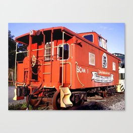 Lil Red Caboose -Wellsboro Ave Hurley ArtRave Canvas Print