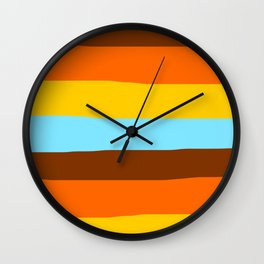 70s vintage lines Wall Clock