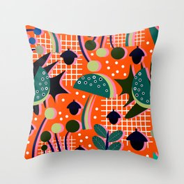 When autumn turns to winter Throw Pillow