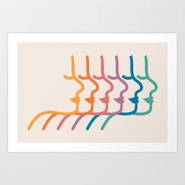 Boca Silhouettes Art Print