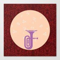 trumpet Canvas Prints featuring Trumpet by Design4u Studio